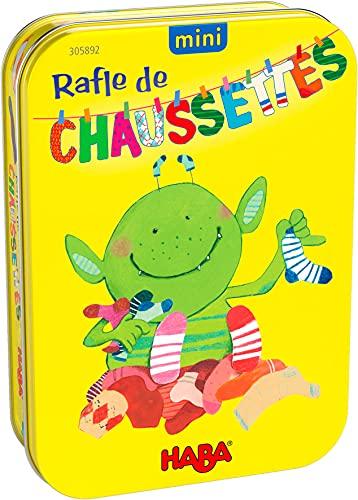 HABA Mini Rafle de Chaussettes société-Jeu de Paires-Petit Format-4 Ans et plus-305892, 305892, Coloré