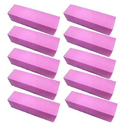 Lumanuby 10x Femmes Nail Art Fille de ponçage Fichiers polonais Acrylique Bloquer Tampons manucure Outils Violet 10x2.5x2.5cm
