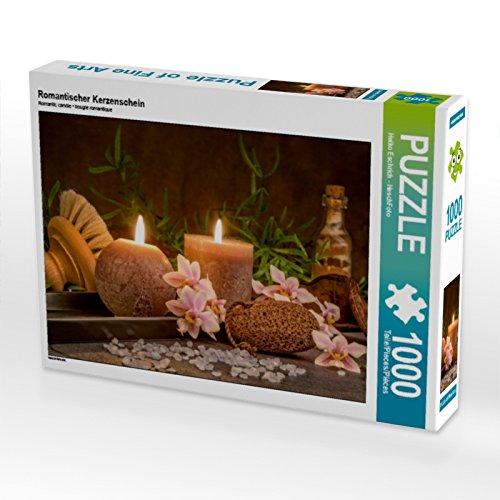 CALVENDO Puzzle Romantischer Kerzenschein 1000 Teile Lege-Größe 64 x 48 cm Foto-Puzzle Bild von HeschFoto