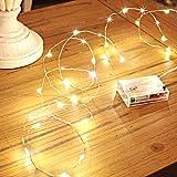 Sanniu LED Lichterketten, Mini Lichterketten mit Batteriebetrieb und Sternenhimmel aus Kupferdraht,...