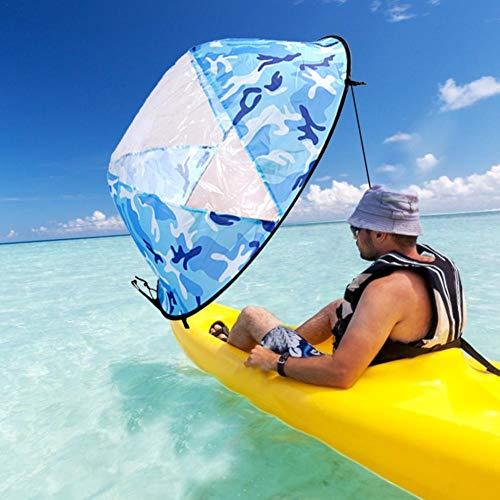 Rlorie Kayak Vela Paddle 42 Pulgadas Accesorios de Kayak Canoa Compacto y Portátil Grand