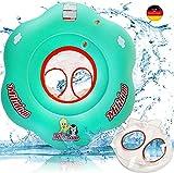 Milidom Baby Schwimmring I Baby Schwimmsitz 6 Monate - 3 Jahre bis 18kg (Flower)