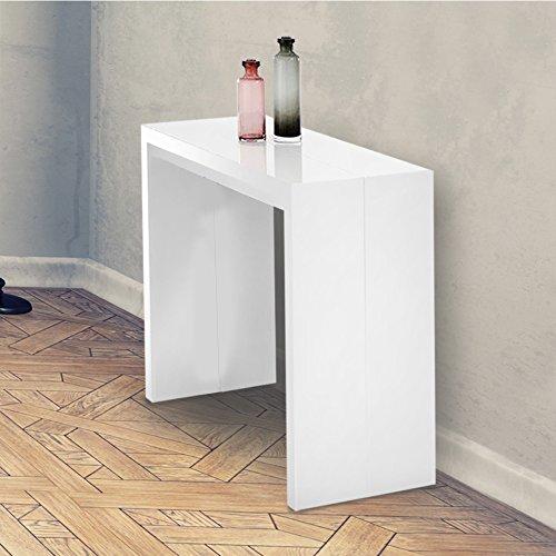 Consolle Allungabile 3Mt FORNITA MONTATA colore Bianco Lucido Mod.New Net
