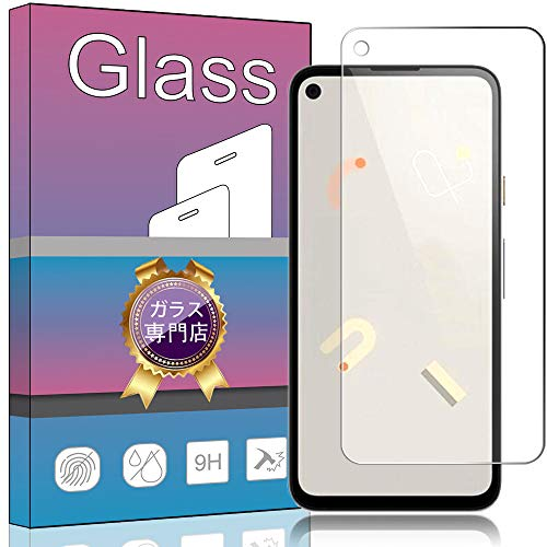 Google Pixel 4a ガラスフィルム 強化ガラス 液晶保護フィルム Google Pixel 4a 専用フィルム 厚さ0.33㎜ 硬度9H 気泡ゼロ ガラス飛散防止 指紋防止高精細 表裏面保護 透明 PCduoduo
