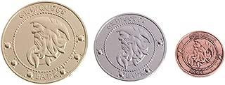 Roboco US Mint,3pcs/Set Hogwart Gringotts Bank Coin Wizarding World Galleons Sickles Knutes US Mint