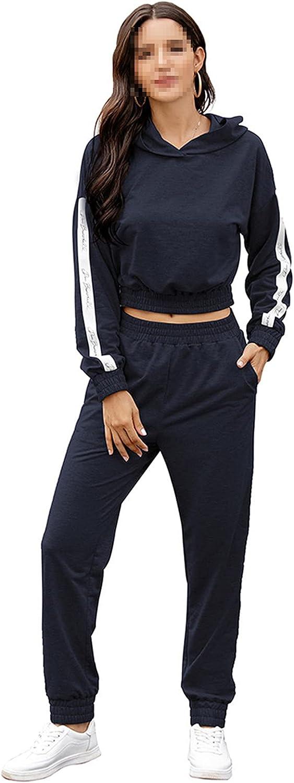 Women Tracksuit 2 Piece Set Suit Casual Gray Sports Top+Pants Suit Full Long Sleeve Stitching Suit