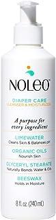 NOLEO - 3 in 1 Organic Diaper Care, Alternative to Baby Wipes*, Rash Preventive Cream, Moisturizing Lotion (8 Oz)