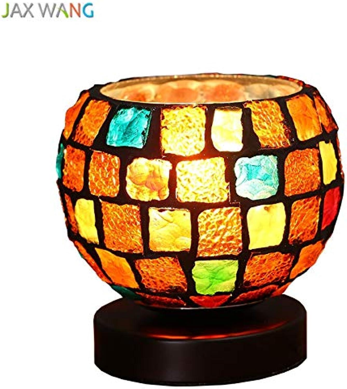 5151BuyWorld Lampe Mittelmeer Stil Tischlampe Farbe Top Qualitt Glas Tischlampe Wohnzimmer Schlafzimmer Nacht Kreative Warm Romantische Tischdekoration Beleuchtung {Button Control}