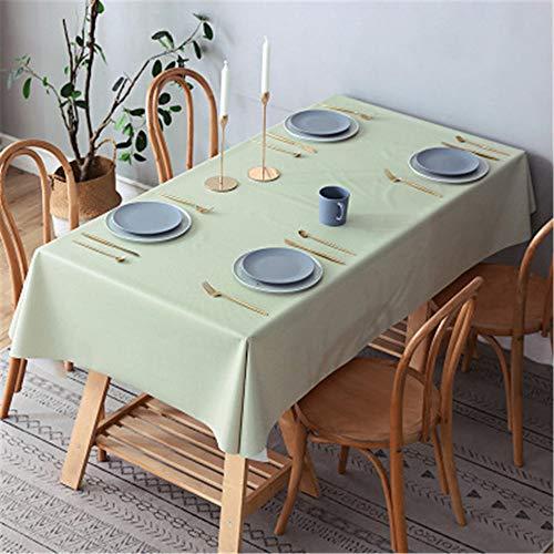 Mantel De Impresión De Planta Verde Simple Moderno Mantel De Mesa Impermeable para El Hogar Mantel De Mesa De Centro Rectangular