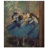 JUNIWORDS Poster, Edgar Degas, Die blauen Tänzerinnen, 60