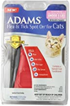Adams Flea and Tick Spot On for Cats, Over 2.5 Pounds but Under 5 Pounds, 3 Month Supply, With Applicator