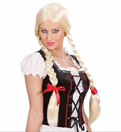 Widmann - pruik Gretel met vlechten