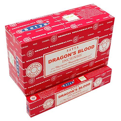 Incienso Dragon´s Blood, Caja de 12 Paquetes. Cada Paquete Contiene 16 Gramos. Total Entre 13 y 15 varitas en Cada Paquete. Huele Genial