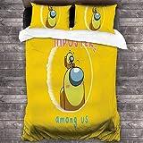 QWAS Bajo nosotros, ropa de cama, juegos, fans del anime, juegos de ropa de cama de tres piezas para niños y adolescentes, dibujos animados, microfibra, 3 piezas (A1,200 x 200 cm + 50 x 75 cm x 2)