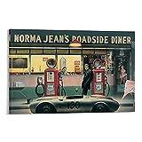 SDFASF James Dean Poster, Tankstellen-Poster, dekoratives