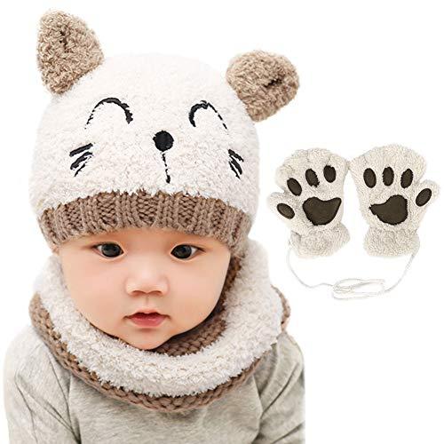 Bearbro Bambino Cappello Inverno, Infantile Invernale del Bambino ha Lavorato a Maglia Il Cappello...