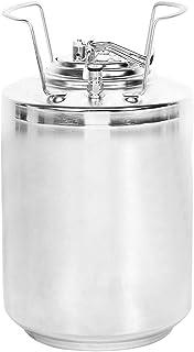 12Lビール樽ステンレス鋼ビール飲料ミニボールロック樽ストレージ樽樽発酵樽ストレージ/配布用の家庭用醸造アクセサリーコーヒー、ビール、その他の飲料