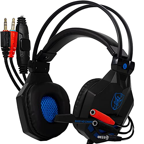 Headset Fone gamer Estereo para computador celular ps4 xbox com adaptador p2 Headphone com microfone ajustavel