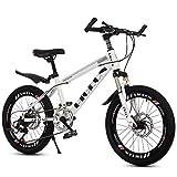 YJTGZ Fahrräder Kinder Fahrrad Outdoor Fahrrad Für Kinder Kinder Reisen Mountainbike Rennrad Jungen Und Mädchen Speed Bikes Student Mountainbike (Color : Weiß, Size : 20inch)
