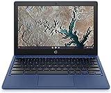 HP Chromebook 11-inch Laptop - MediaTek - MT8183 - 4 GB RAM - 32 GB eMMC Storage - 11.6-inch HD Display - with Chrome OS - (11a-na0030nr, 2020 Model, Indigo Blue) (Renewed)
