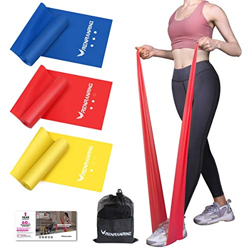 Price comparison product image RENRANRING Resistance Bands,  Exercise Bands for Physical Therapy,  Yoga,  Pilates,  Rehab and Home Workout,  Non-Latex Elastic Bands (Set 3)