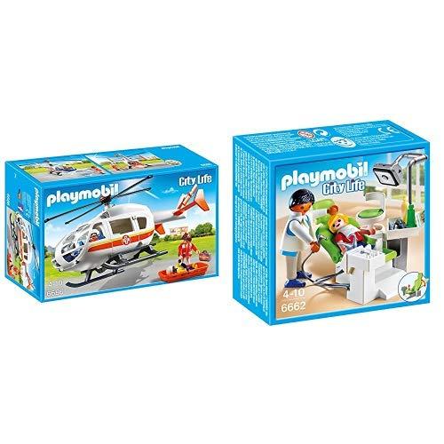 Playmobil 6686 - Rettungshelikopter &  6662 - Zahnarzt