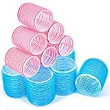 Hair Rollers, 24 Pack Self Grip Salon Hairdressing Curlers, Hair Curlers Sets, DIY Curly Hairstyle, Colors May Vary (JUMBO 12pcs + LARGE 12pcs)