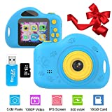 Gifts for 3-8 Year Old Boys Kids Camera Toys for Children Mini Camcorder with 1080P and 2.0 Inch IPS...