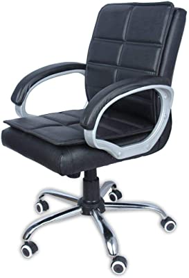 Asha Furniture Back Office Chair/revolving Chair/Director Chair, Black