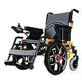 ZNZ Silla de ruedas, silla de rehabilitación médica para personas mayores, personas mayores, silla de ruedas eléctrica, armazón plegable, silla de ruedas propulsada por un asistente, silla de viaje p