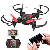 Metakoo Drone con Cámara, M2 Plegable Drone Quadcopter con Cámara HD Live Video WiFi FPV para...