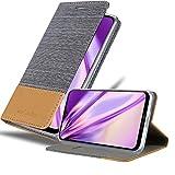 Cadorabo Hülle für Motorola Moto G7 / G7 Plus in HELL GRAU BRAUN - Handyhülle mit Magnetverschluss, Standfunktion & Kartenfach - Hülle Cover Schutzhülle Etui Tasche Book Klapp Style