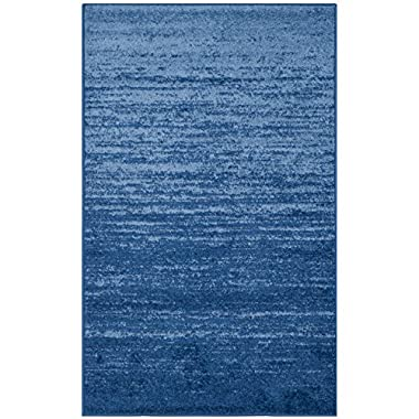 Safavieh Adirondack Collection ADR113F Light Blue and Dark Blue Modern Abstract Area Rug (2'6  x 4')