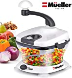 Mueller Ultra Heavy Duty Chopper/Cutter, Fastest, Easiest to Use, Chops Everything, Vegetable, Nuts,...