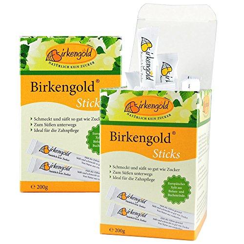 Birkengold Xylit Sticks 4 g im 50er Karton, 2er Pack (2 x 200 g)