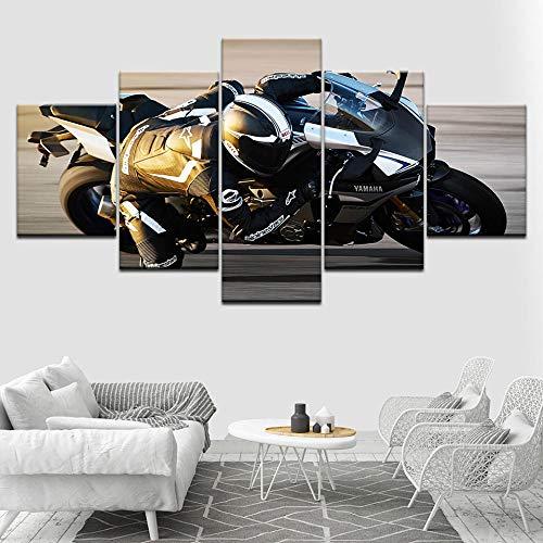 WHOOPS 2015 YZF R1 Motorrad 5 Stück Set Hd Tapete Kunst Leinwanddruck Moderne Poster Modulare Kunst Malerei Für Wohnzimmer Home Decoration30 * 40 * 2 30 * 60 * 2 30 * 80 Cmframeless