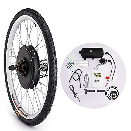Sfeomi 36V 500W 66CM Kit di Conversione Bici Elettrica Controllo Mozzo Motore Hub E-Bike Ruota Bicicletta Regolatore di velocità (Ruota Posteriore)