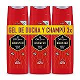Old Spice Booster Gel De Ducha Y Champú Para Hombres 3 x 400 ml (1200 ml)