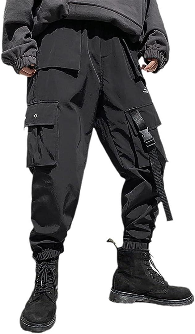 GYSAFJ Multi Pockets Cargo Pants Men Casual Joggers Men Harajuku