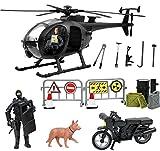 Click n' Play Unidad militar SWAT Elite Helicóptero de rescate de 26 piezas juego con accesorios.