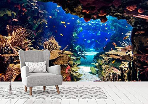 Fotomural Papel Pintado para Pared Fondo Marino | Fotomural para Paredes | Mural | Papel Pintado | Varias Medidas 100 x 70 cm | Decoración comedores, Salones, Habitaciones.