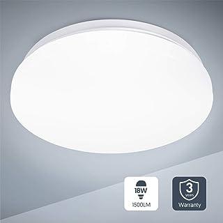 comprar comparacion Plafon led de techo,lamparas de techo habitacion,TECKIN 18W Moderna LED Plafón para Baño Dormitorio Cocina Balcón Pasillo ...