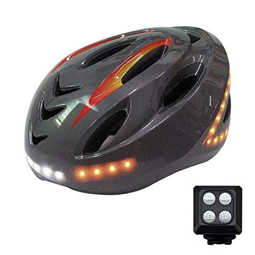 HVW Casco de Bicicleta Inteligente, Bicicleta Casco de Ciclismo Bluetooth Señales de...