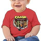 maichenxuan Crash Bandicoot - Camiseta de manga corta para bebé, cómoda y transpirable, color rojo