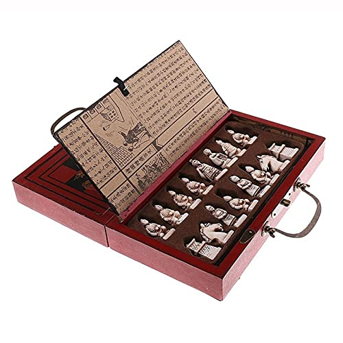 ZHANGAIGUO Piezas De Ajedrez Chino Antiguas De Madera, Juego De Mesa De Juego Juguetes De Ocio para Familias Chess Chino 23x25x3cm / 9.05x9.84x1.18 Pulgadas