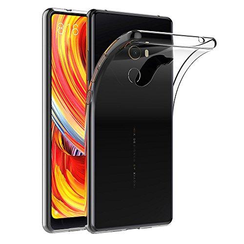AICEK Xiaomi Mi Mix 2 Hülle, Transparent Silikon Schutzhülle für Xiaomi Mi Mix 2 Hülle Clear Durchsichtige TPU Bumper Xiaomi Mi Mix Evo Handyhülle (5,99 Zoll)