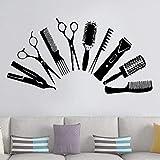 Creative Hair Salon Wall Barber Wall Sticker Beauty Salon Decoration Decal Vinyl Sticker Wallpaper 42x80cm