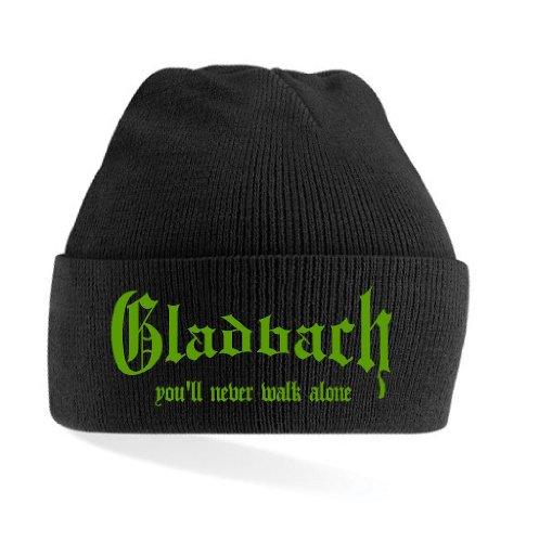 Gladbach Ultras You´ll Never Walk Alone Strickmütze|schwarz-grün