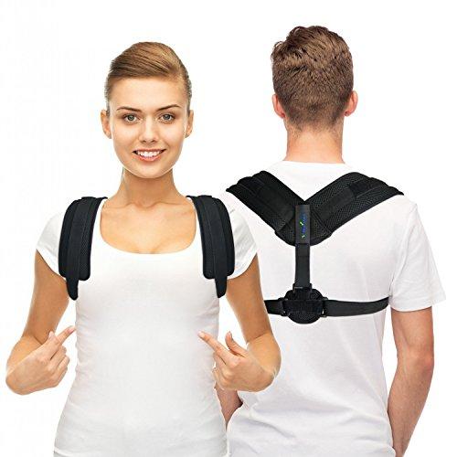 Haltungskorrektur Rücken für Damen & Herren - Rückenstabilisator für Aufrechte Körperhaltung - Geradehalter zur haltungskorrektur Linderung von Rückenschmerzen (Unsichtbar unter der Kleidung)