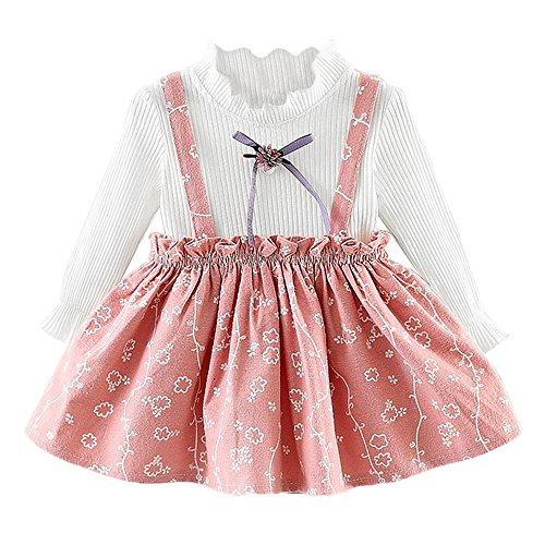 Vovotrade Filles Princess Dress à Manches Longues Floral Toddler Enfants bébé Flower Print Vêtements Party Princesse Robes Printemps d'été Élégant Confortable Mode Vêtements 1Piece 6mois-24mois